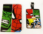 Marvel Comics Face Off Passport & Luggage Tag Set