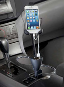 The Sharper Image Hold & Charge Smartphone iPhone 4s, 5s Flexible Car Mount