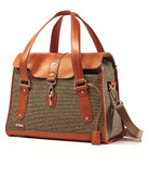Hartmann Tweed Belting Carriage Travel Tote Bag Tweed with Belting Leather