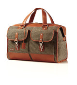 Hartmann Tweed Carry-On Legacy Duffel Bag w/ Tan Leather Trim