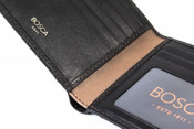 Bosca Tacconi Mens I.D Hipster Credit Card Leather Wallet