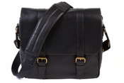 "Bosca Tacconi Leather Flapover 15"" Laptop Messenger Bag"