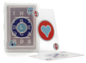 Kikkerland Invisible Waterproof Plastic Playing Poker Cards