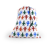 Kikkerland Travel Laundry Bag - Planes