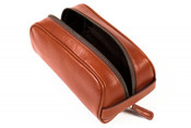 Bosca Correspondent Small Soft Leather Toiletry Shave Kit