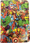Marvel Comics Multi Character Print Passport Case