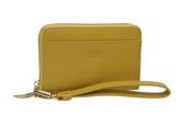 Tusk Madison Womens Leather Zippered Wristlet Wallet w/ smartphone pocket