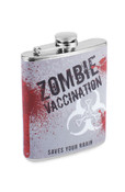 Zombie Vaccination Drinking Hip Flask 7 oz Stainless Steel