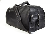 Bosca Tribeca Leather Weekend Carry On Duffle Bag