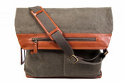 Bosca Correspondent Canvas Continental Messenger Bag