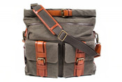 Bosca Correspondent Canvas Explorer Overnight Satchel Bag