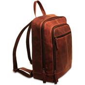 "Jack Georges Voyager Leather 15"" Laptop Backpack"