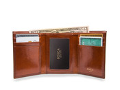 Bosca Old Leather Men's Double I.D. Trifold Wallet