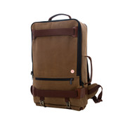 "Token Waxed Canvas Dekalb 17"" Laptop Backpack Carry On Bag"