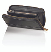 Hartmann Belting Collection Womens Zip Around Leather Wallet