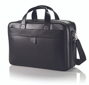 "Hartmann Heritage Leather Double Compartment 15.6"" Laptop Briefbag"