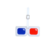 Kikkerland 3D Glasses Luggage Tag - White