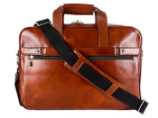 Bosca Old Leather Single Gusset Stringer Briefbag