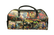 Marvel Comics Carry On Duffle Bag Retro Comic Book Print w/ Black Trim