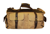 """Jesslyn Blake Canvas & Leather KEITH Weekender 18"""" Carry on Duffle Bag"""