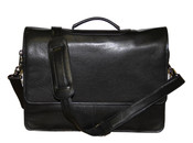 iLi Leather Flapover Messenger Briefbag