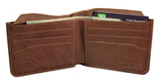 iLi Mens RFID Leather Billfold Wallet w/ Hidden Cash Pocket