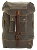 DamnDog Canvas & Leather Rucksack Backpack