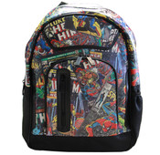 "Marvel Comics Dual Compartment Multi Character Print 15"" Laptop Backpack"
