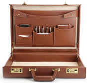 "Korchmar Monroe 4""  Full Grain American Leather Attache Case"