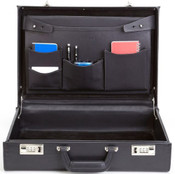 "Korchmar Monroe 5""  Full Grain American Leather Attache Case"