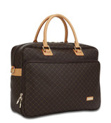 Rioni Womens Travel Laptop Tote Bag - Signature Brown