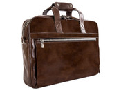 Bosca Old Leather Single Gusset Stringer Briefbag - Teak