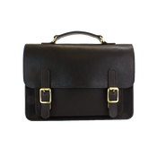 The British Belt Company Kingston Leather Flapover Satchel