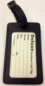 Curry's Leather Deluxe Business Card Tag Made in USA