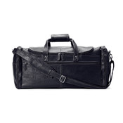"Winn International 21"" Carry On Leather Duffle Bag - Black"