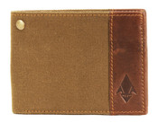 DamnDog Canvas & Leather Mens Billfold Wallet