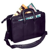 Winn International - The Director - Leather Double Gusset Briefcase w/ Drop Handles