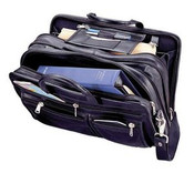 Winn International - The Gladstone -Leather Expandable Briefcase