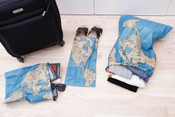 Kikkerland Around The World Travel Laundry Bag Set of 4 Bags - LB10