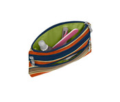 Baggallini 3 Zip Pocket Cosmetic Case Makeup Travel Bag