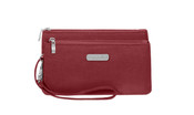 Baggallini RFID Blocking Double Zip Wristlet Womens Wallet