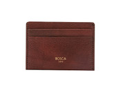 Bosca Old Leather Washed Mens Weekend Credit Card Case Wallet