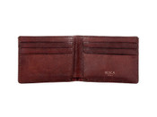 Bosca Old Leather Washed Small Bifold Mens Leather Bifold Wallet