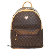 Rioni Round Dome Travel Daypack Backpack Unisex - Signature Brown