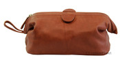 Osgoode Marley Cashmere Leather Facile Top Travel Framed Toiletry Kit