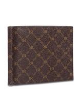 Rioni Mens Bifold Money Clip Wallet Signature Brown
