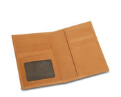 Rioni Travel Wallet Passport Case w/ ID Window - Signature Brown
