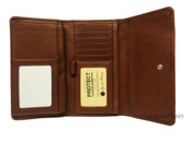 Osgoode Marley Cashmere Leather Womens RFID Wallet w/ Removable Checkbook