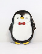 iLi Leather RFID Blocking Penguin Coin Purse Credit Card Wallet