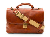 Bosca Dolce Leather Flapover Computer Briefbag